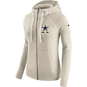 Nike Women's Dallas Cowboys Gym Vintage Full-Zip Grey Hoodie