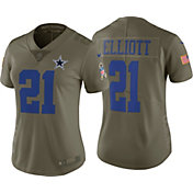Nike Women's Home Limited Salute to Service 2017 Dallas Cowboys Ezekiel Elliott #21 Jersey