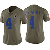 Nike Women's Home Limited Salute to Service 2017 Dallas Cowboys Dak Prescott #4 Jersey
