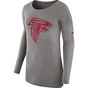 Nike Women's Atlanta Falcons Cozy Grey Long Sleeve Shirt