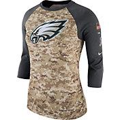 Nike Women's Philadelphia Eagles Salute to Service 2017 Camouflage Raglan