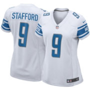 Nike Women's Away Game Jersey Detroit Lions Matthew Stafford #9