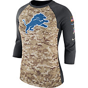 Nike Women's Detroit Lions Salute to Service 2017 Camouflage Raglan