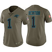 Nike Women's Home Limited Salute to Service Carolina Panthers Cam Newton #1 Jersey