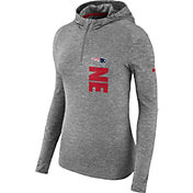 Nike Women's New England Patriots Element Grey Quarter-Zip Performance Hoodie