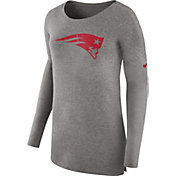 Nike Women's New England Patriots Cozy Grey Long Sleeve Shirt