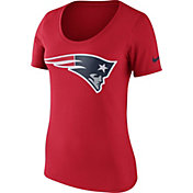 Nike Women's New England Patriots Primary Logo Red Scoop Neck T-Shirt
