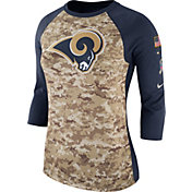 Nike Women's Los Angeles Rams Salute to Service 2017 Camouflage Raglan
