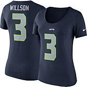 Nike Women's Seattle Seahawks Russell Wilson #3 Pride Navy T-Shirt