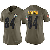Nike Women's Home Limited Salute to Service 2017 Pittsburgh Steelers Antonio Brown #84 Jersey