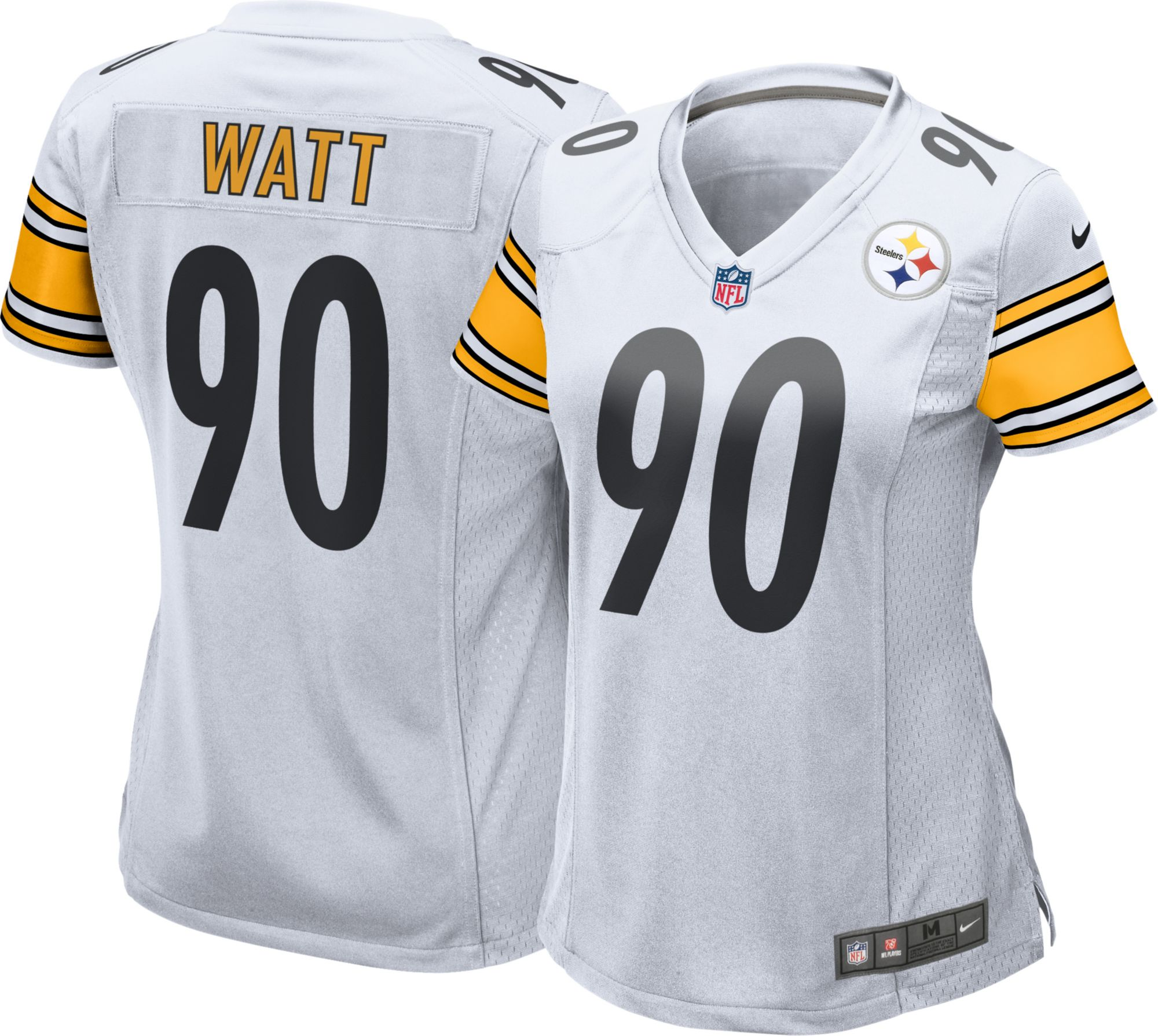 d23a58ca162 ... Men Nike Womens Away Game Jersey Pittsburgh Steelers T.J. Watt 9 Youth  2017 NFL Draft Pittsburgh Steelers 90 ...