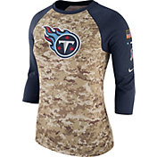 Nike Women's Tennessee Titans Salute to Service 2017 Camouflage Raglan