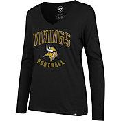 '47 Women's Minnesota Vikings Football Black Long Sleeve Shirt