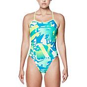 Nike Women's Drift Graffiti Modern V-Back Swimsuit