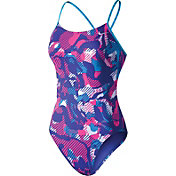 Nike Women's Floral Camo Cut-Out Swimsuit