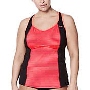 Nike Women's Plus Size Glow Racerback Tankini
