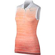 Nike Women's Precision Zebra Fade Sleeveless Golf Polo