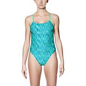 Nike Women's Rush Heather V-Back Swimsuit
