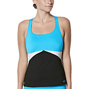 Nike Women's Color Surge Prism Crossback Tankini