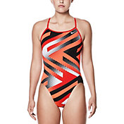 Nike Women's Tidal Riot Modern V-Back Swimsuit