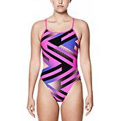 Nike Women's Tidal Riot Modern V-Back Swimsuit