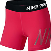 Nike Girls' 4'' Pro Graphic Shorts