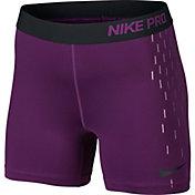 Nike Women's 5'' Pro Cool Linear Rain Printed Shorts
