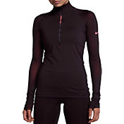 Nike Women's Pro Hyperwarm Long Sleeve 1/2 Zip Shirt