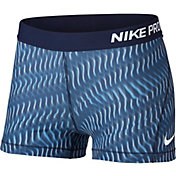 Nike Women's 3'' Pro Rainbow Wave Printed Shorts
