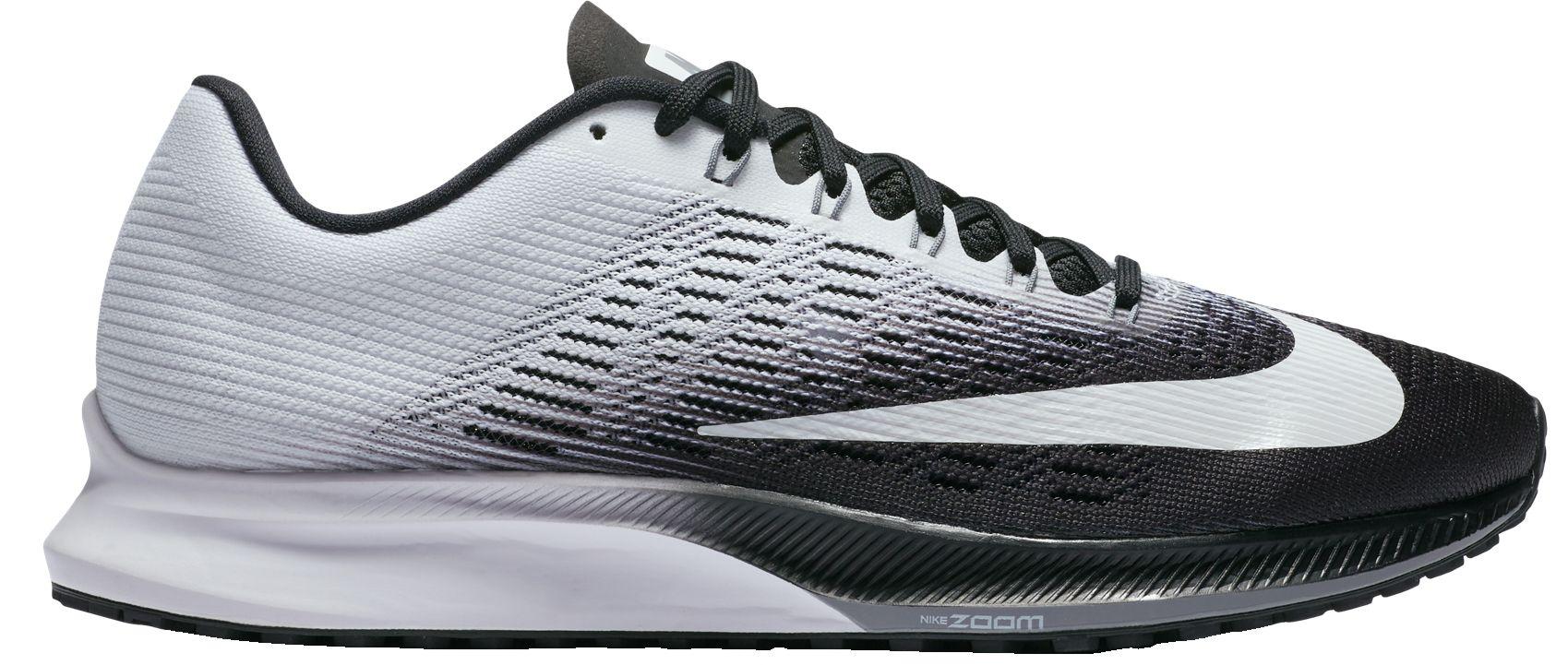 ... product image nike womens zoom elite 9 running shoes. white black white  blue