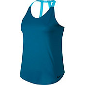 Nike Women's Breathe Solid Double Strap Elastika Tank Top