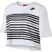 Nike Women's Sportswear Stripe Graphic Crop T-Shirt
