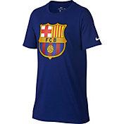 Nike Youth Barcelona Blue Crest T-Shirt