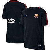 Nike Youth FC Barcelona Breathe Squad Black Shirt