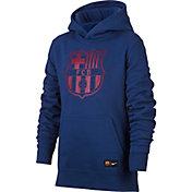 Nike Youth FC Barcelona Logo Navy Hoodie