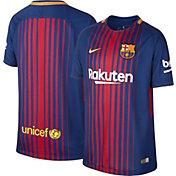 Nike Youth Barcelona 17/18 Breathe Replica Home Stadium Jersey