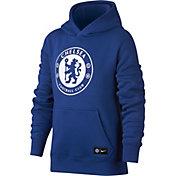 Nike Youth Chelsea FC Logo Blue Hoodie