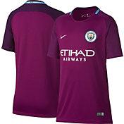 Nike Youth Manchester City 17/18 Breathe Replica Away Stadium Jersey