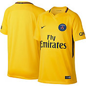 Nike Youth Paris Saint-Germain FC 17/18 Breathe Replica Away Stadium Jersey