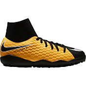 Nike Kids' HypervenomX Phelon III Dynamic Fit Turf Soccer Cleats