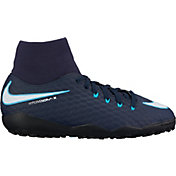 Nike Kids' HypervenomX Phelon III Dynamic Fit Turf Soccer Cleats