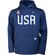 Nike Youth USA Hockey Therma-FIT Navy Pullover Hoodie