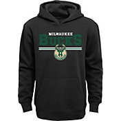 Outerstuff Youth Milwaukee Bucks Black Pullover Hoodie