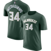 Nike Youth Milwaukee Bucks Giannis Antetokounmpo #34 Dri-FIT Green T-Shirt