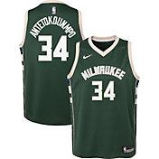 Nike Youth Milwaukee Bucks Giannis Antetokounmpo #34 Green Dri-FIT Swingman Jersey