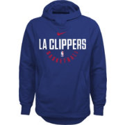 Nike Youth Los Angeles Clippers Therma-FIT Royal Practice Performance Hoodie