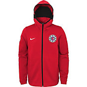 Nike Youth Los Angeles Clippers On-Court Red Dri-FIT Showtime Full-Zip Hoodie