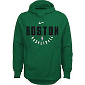 Nike Youth Boston Celtics Therma-FIT Kelly Green Practice Performance Hoodie