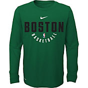 Nike Youth Boston Celtics Dri-FIT Kelly Green Practice Long Sleeve Shirt