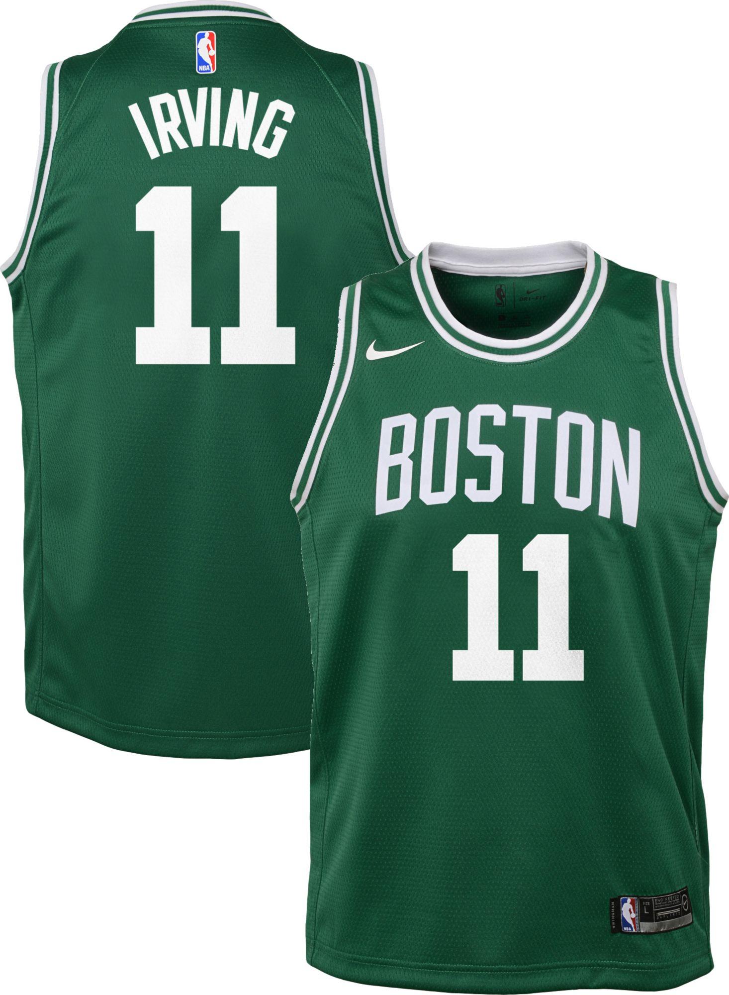 Nike Youth Boston Celtics Kyrie Irving #11 Kelly Green Dri-FIT Swingman  Jersey   DICK'S Sporting Goods